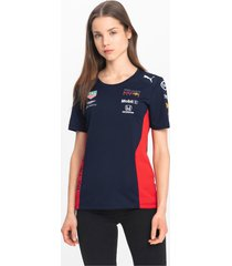 red bull racing team t-shirt voor dames, zwart/aucun, maat m | puma