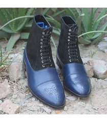 handmade chelsea suede leather ankle boots, forma casual men formal dress boots