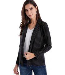 blazer básico rayas negro/blanco nicopoly