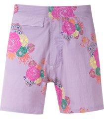 amir slama printed shorts - purple