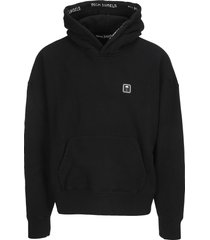 palm angels palm patch cotton hoodie