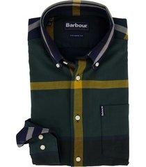 barbour overhemd groen geel geruit