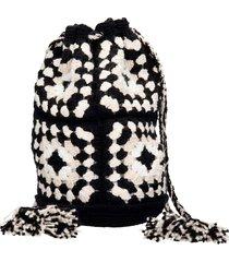 alanui shoulder bag in black cotton