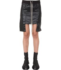 drkshdw vegan leather mini skirt