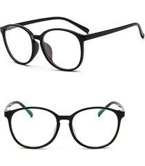 uomo donna occhiali da vista clear plain lente cornice ovale grande in plastica occhiali