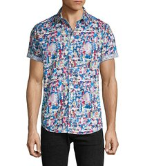 classic-fit abstract short-sleeve shirt