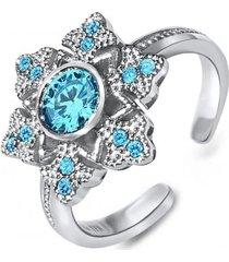 anillo copo de nieve casual plata arany joyas