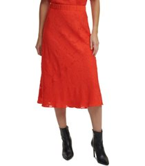 dkny solid pull-on burnout skirt
