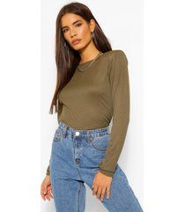 rib top with shoulder pads, olive