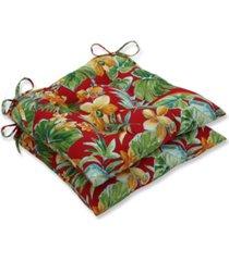 pillow perfect beachcrest poppy wrought iron seat cushion, set of 2