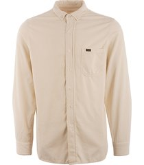 lois jeans thomas needle cord shirt - ecru 1087-5771