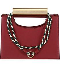 wade leather top handle shoulder bag