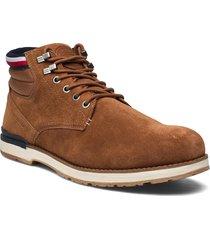 outdoor suede hilfiger boot snörade stövlar brun tommy hilfiger