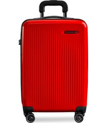 sympatico carry-on expandable spinner suitcase - red