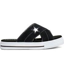 converse sandalias one star sin cordones black