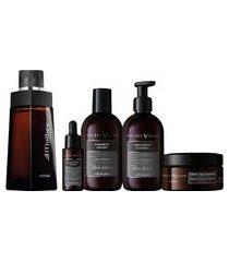 combo malbec club: desodorante colonia + creme de barbear + loção hidratante + sabonete líquido + óleo barba