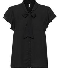 sc-cemre blouses short-sleeved svart soyaconcept