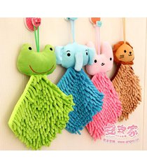 home-creative-cute-animal-head-can-hang-towel-chenille-scarf-4-color