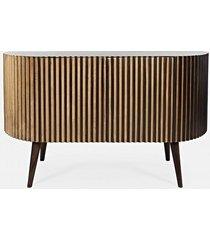 komoda drewniana barton retro gold