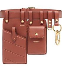 fendi multipurpose belt - brown