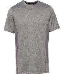 adv essence ss tee m t-shirts short-sleeved grå craft
