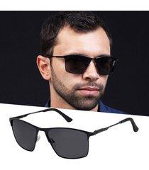 óculos de sol masculino preto polarizado alumínio izaker