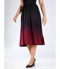 kjol m. collection röd::svart