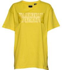 edit satin portland tee t-shirts & tops short-sleeved gul superdry