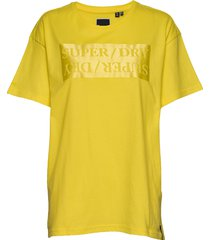 edit satin portland tee t-shirts & tops short-sleeved gul superdry