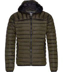 core down hooded jacket fodrad jacka grön superdry