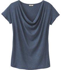 shirt met watervalhals, ocean 40
