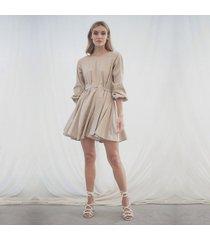 vestido leticia caqui