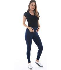 calça legging a gestante fusô viscolycra azul marinho