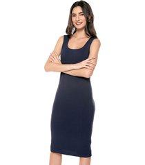 vestido casual sin manga azul marino realist