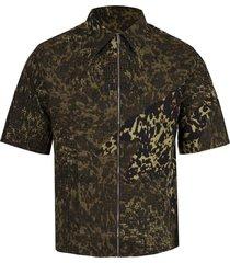 4g boxy fit short-sleeve shirt brown