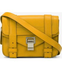 proenza schouler ps1 mini crossbody bag olive oil/yellow one size