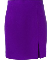 alessandra rich high waist mini skirt - purple