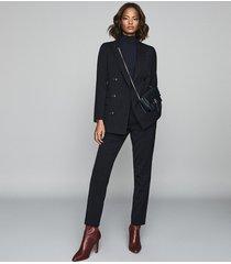 reiss bree jacket - pinstripe slim fit blazer in navy, womens, size 10