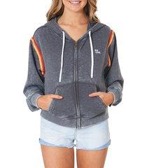 women's rip curl golden days rainbow trim zip hoodie