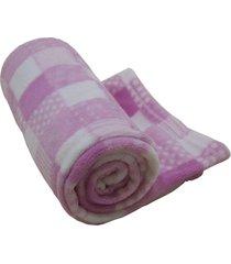 cobertor infantil antialã©gico 1,10m x 90cm camesa rosa - rosa - dafiti