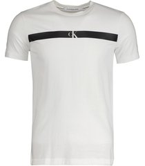 calvin klein t-shirt - slim fit - wit
