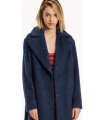 campera azul tommy hilfiger cher wool coat