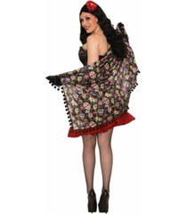 buyseasons adult day of the dead shawl