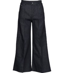 tailored denim culottes vida byxor blå karl lagerfeld