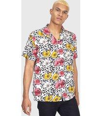 camisa brave soul multicolor - calce regular