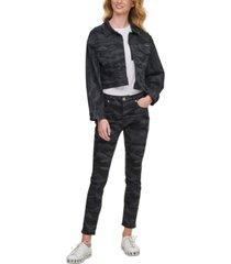 dkny jeans camo jean trucker jacket