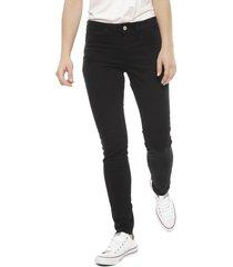jeans jacqueline de yong 32 largo negro - calce skinny