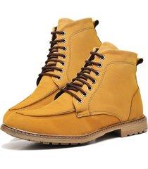 bota coturno adventure fashion dubuy 510el amarelo