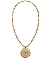 gold-tone medusa necklace