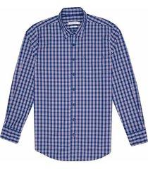 camisa casual manga larga a cuadros slim fit para hombre 92671